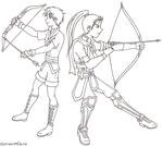 Shinon and Rolf by OutrealmGate
