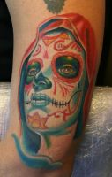 Sugar skull lady by gettattoo