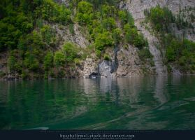 Alpine Lake - Clear Water - Cliff 02 by kuschelirmel-stock