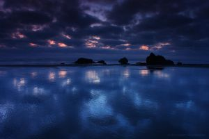 Cannon Beach - Reflections 2 by pyro303