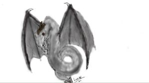 .:Iscribble dragon :'D:. by Lurker89