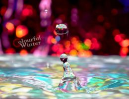 Colorful drop -or- Good Morning lady by ColourfulWinter