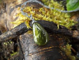 Mossy Forest Vesuvianite Pendant (another) by QuintessentialArts