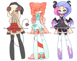 Thigh High Adoptables Batch 7: CLOSED by Zombutts