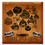 Angry Bird Brushes by M10tje