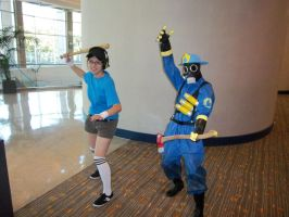 AFest '10: Blu Scout and Pyro by TEi-Has-Pants