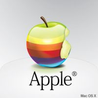 Apple rainbow icon by semaca2005