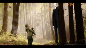 Slender - You're very tall, Mister by cfowler7