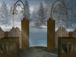 Romantic Winter Garden 2 by BlackStock