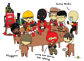 red team poker night tf2 by tzumii