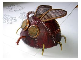 leather sculpture fly by pushok1983
