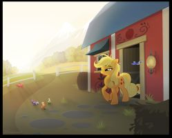 AJ morning by sherwoodwhisper