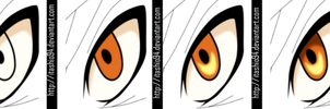 Minato eye coloring steps - tutorial by itashio94