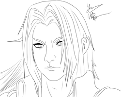Sephiroth Linework -WIP- by Yeazz