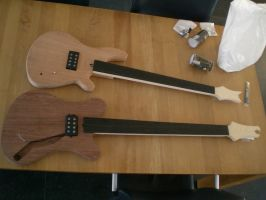 W.I.P.  Building my own Bass 5 by DraconicX