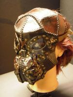 Steampunk leather mask -Wild- by IsilWorkshop