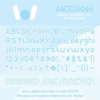 diamond are forever font by weknow by weknow