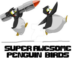 Super Awesome Penguin Birds by EpicGuitar