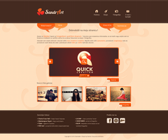 SandrArt website by Evey90