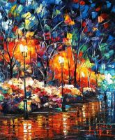 Sweet light by Leonid Afremov by Leonidafremov