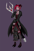 gothic soraka fan skin by Pantalewns