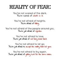 Reality of fear by mbamalu