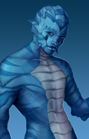 Blue Fish Lizard Guy by DrakeLake