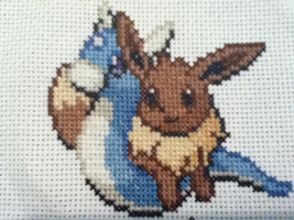 eevee dratini cross stitch by Kimi133