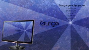 Blue grunge wallpaper set by qamu74