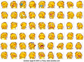 A Compilation of Qoobee Emoticons by goloops