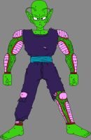 Barefoot Battle Damaged Piccolo Jr. 2 by DragonBallFan2012