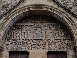Old Monastery and Church 2 Conques. Fr by jennystokes