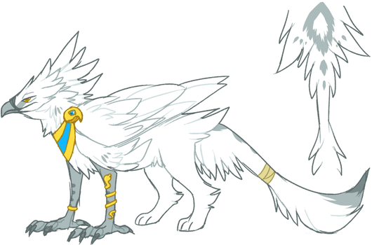 Griffin design doodle by Sherushi
