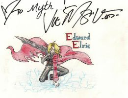 Vic's autograph (Ed Elric) by Shaynihx