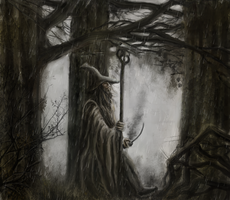 Gandalf in the fog by Artofjuhani