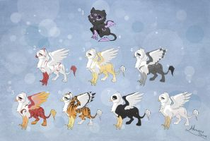 [Closed] Adoptables: Gryphons by MySweetQueen