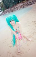 Vocaloid Swimsuit - Miku by Xeno-Photography