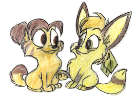 Chibi Kelly and Dale by Mimi-fox