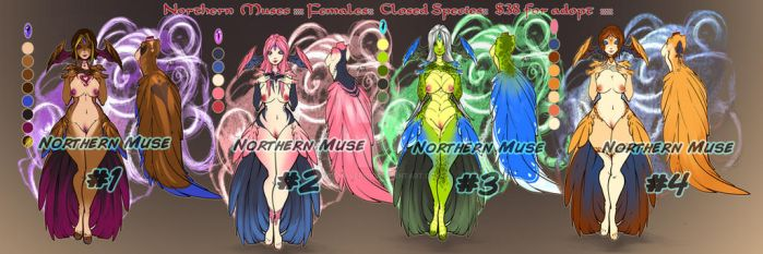 Muses Adopts --1 ::OPEN:: by FsMaverick