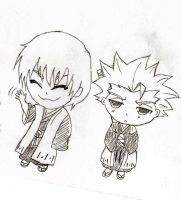 For Akemi146: Gin and Toshiro Chibis! by PeachBerryDivision
