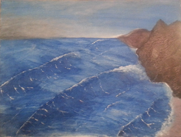Waves by oiltocanvas