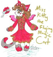 Miss Kitty the Magic flying cat red dress by Kittychan2005