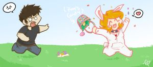 Spreading Easter Joy by MasterRambler
