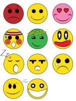 Emoticons by ras-blackfire