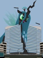 The Blue Narrow Boaters vs Queen Chrysalis by OceanRailroader