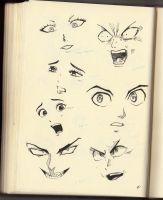 Sketch21:More Eyes, Noses  and Mouth by Shiryu37