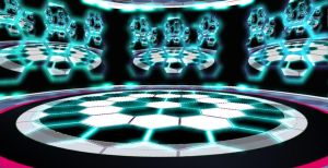 Futuristic hexagonal stage by chocosunday