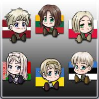 Hetalia Europe Chibis 3 by keltzy