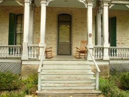 Porch with Rocking Chairs by StockChroma