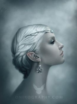 Snow Queen portrait by RozennIlliano